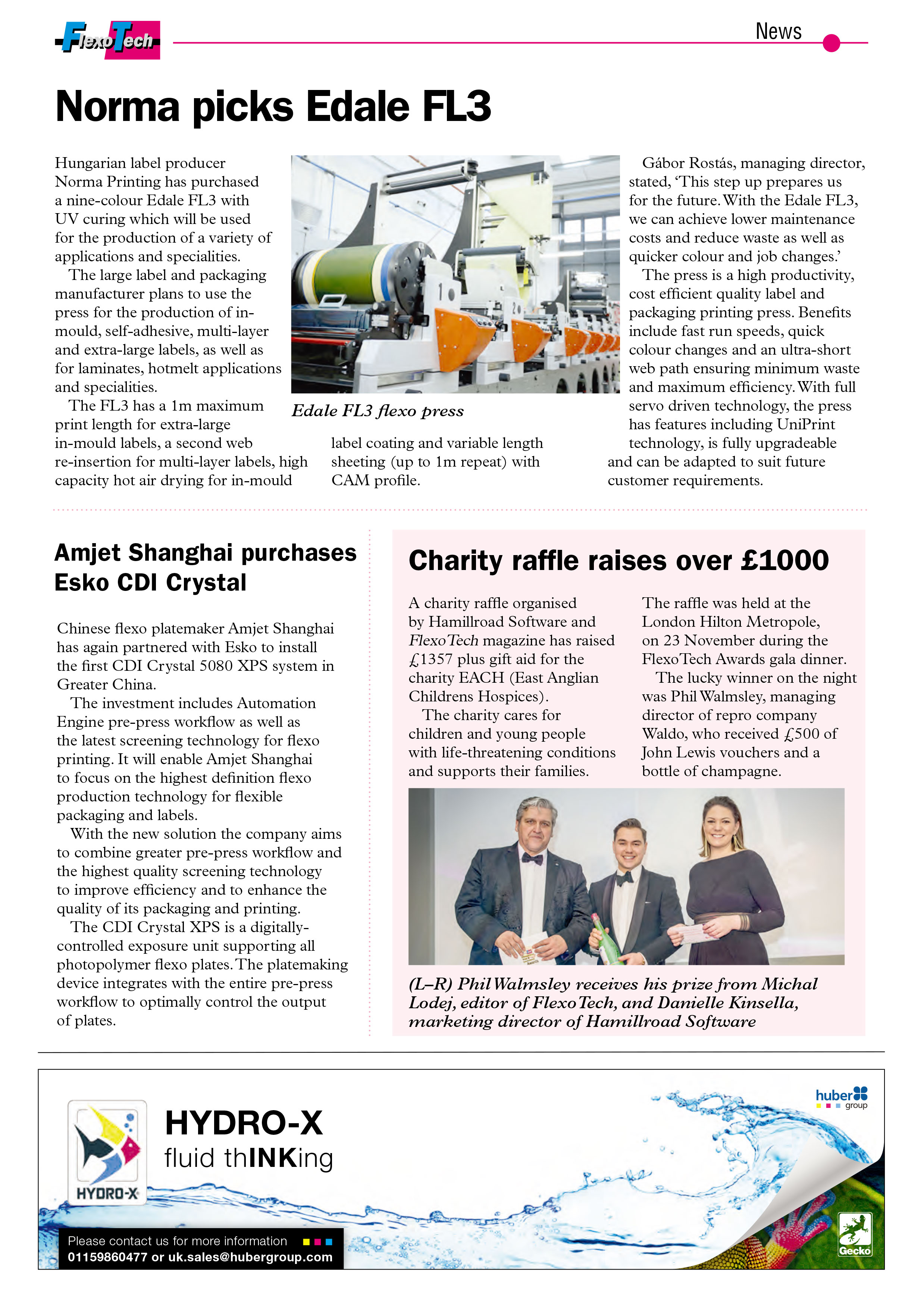 hamillroad software - charity raffle raises over £1000 for EACH East Anglias Childrens Hospice