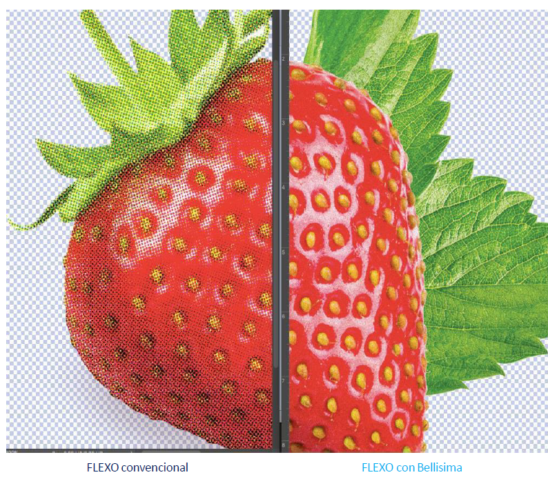 Ultra HD flexo print Emsur Bellissima DMS flexographic